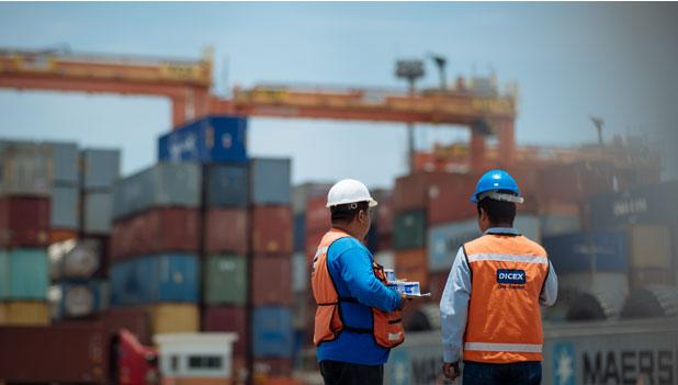Buques de carga en puerto
