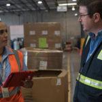 Realización de inventario en almacen de carga