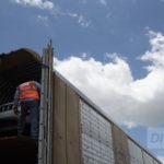 Inspección de carga automotriz en tren