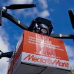 Drone con carga para entrega